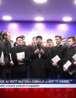 Elevii Seminarului Teologic au vestit Nașterea Domnului la NEst TV Channel