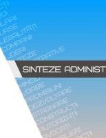 Sinteze administrative – 9 martie 2020 – Dan Strutinschi și Cristinel Bărculescu