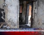 Familie cu patru copii, rămasă pe drumuri în urma unui incendiu