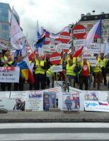 A doua zi de proteste a Transportatorilor Rutieri din România