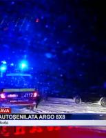 Intervenție cu autoșenilata Argo 8×8