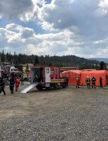 Simulare exercițiu ISU Suceava, în Pasul Mestecăniș