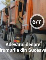 Adevărul despre drumurile din județul Suceava.