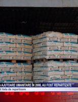 Materialele primite ca ajutoare umanitare în 2008, au fost repartizate