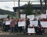 Protest la Moldovița privind planul de școlarizare