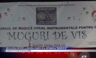 """Zeci de copii au participat la concursul de muzică vocal instrumentală """"Muguri de vis"""""""