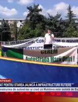 Botoșănenii au protestat pentru starea jalnică a infrastructurii rutiere