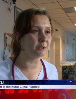 Medicul Andra Marcu dedicată copiilor internați la Institutul Clinic Fundeni