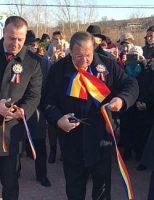 Locuitorii din Adâncata au participat la inaugurarea parcului din centrul comunei