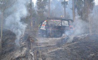 12 incendii din cauza aprinderii intenționate a vegetației uscate