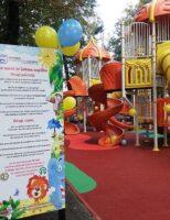 Loc de joacă inaugurat în Parcul Central al Sucevei