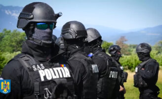 O zi de pregătire a luptătorilor din cadrul trupelor de intervenție ale Poliției Române