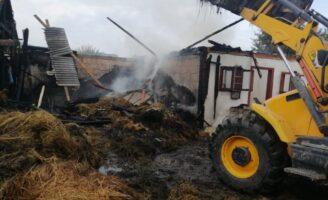 Incendiu în localitatea Păltinoasa