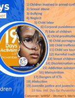 """""""19 zile de prevenire a abuzurilor și violențelor asupra copiilor și tinerilor"""""""