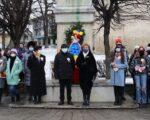 Depuneri de coroane la bustul lui Mihai Eminescu