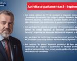 Senatorul Gheorghiță Mîndruță și-a prezentat activitatea parlamentară aferentă lunii septembrie